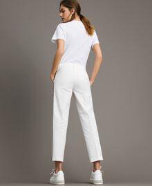 Pantalon en popeline à coupe cigarette Off White Femme 191ST2040-03