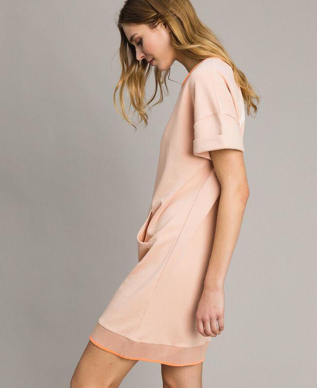 Fleece mini dress Delicate Pink Woman 191LL21AA-03