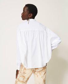 Camicia in popeline con pieghe Bianco Donna 211TT245C-04