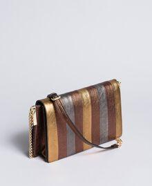 Umhängetasche aus mehrfarbigem Metallic-Leder Mehrfarbig-Metallic Frau OA8TDA-02