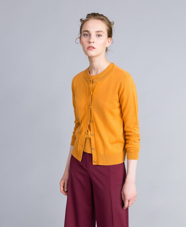 Silk and cashmere mandarin collar top Brandy Woman PA83GF-01