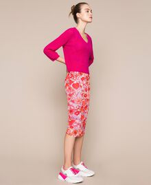 Floral tulle sheath dress Reve / Rose Print Woman 201TQ201F-0T