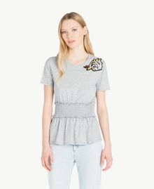 Sequined t-shirt Melange Grey Woman JS82RB-01
