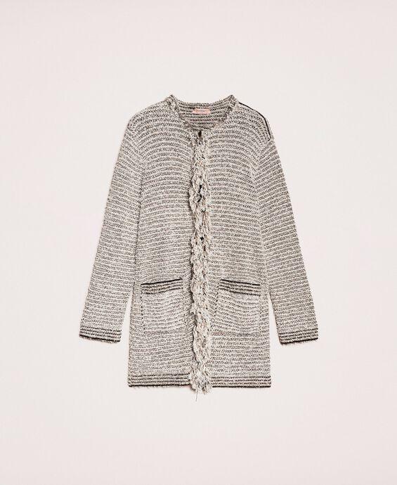 Twisted yarn jacket with lurex