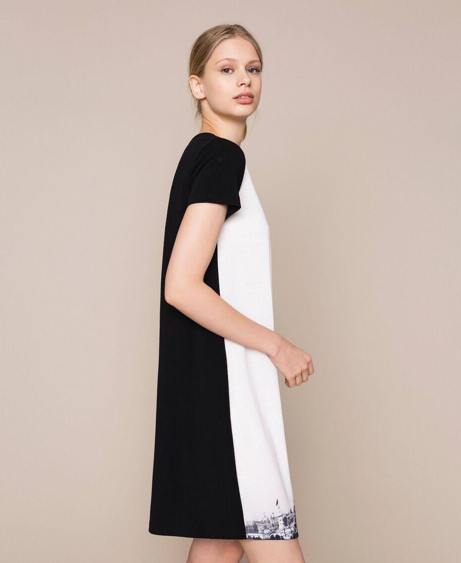 Ночная рубашка с принтом Черный женщина 201LL26CC-02