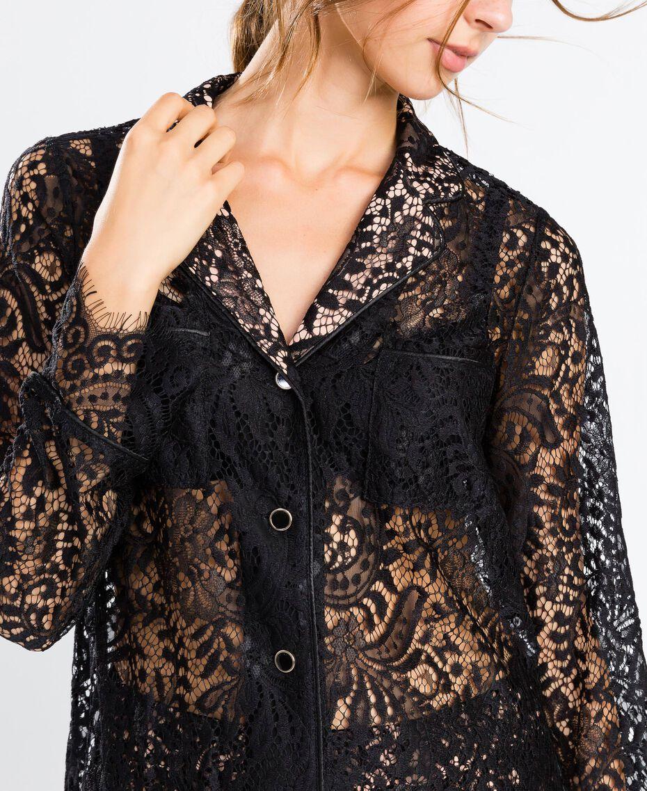Veste en dentelle festonnée Noir Femme IA8CLL-0S