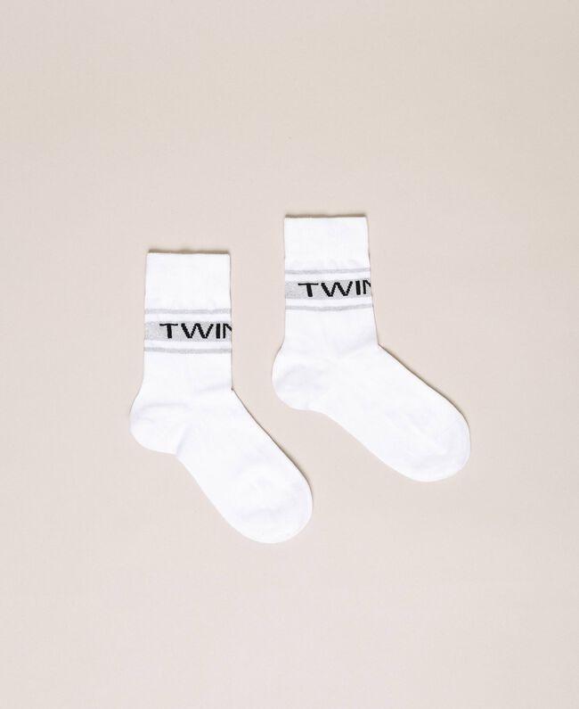 Короткие носки с жаккардовым логотипом Черный женщина 201TA4410-01