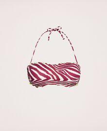 Printed bandeau bikini top Flirty Rose Zebra Print Woman 201LBMG11-0S
