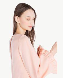 Kleid aus Cady Rosafarbener Sonnenaufgang Frau SS82AC-04