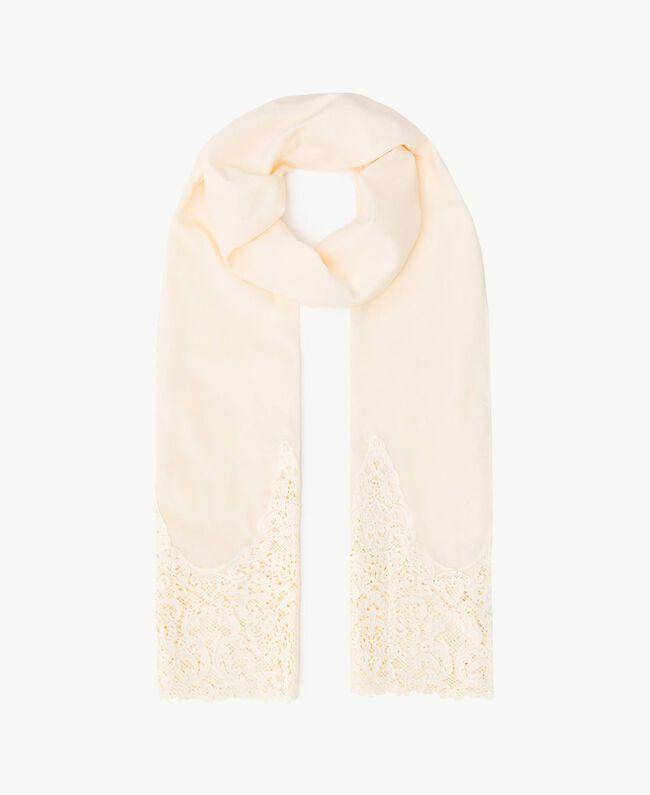 Macramé lace scarf Ivory Woman OS8T27-01