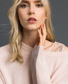 Kastiger Pullover mit Unterhemd Blütenknospenrosa Frau 192MP3101-04