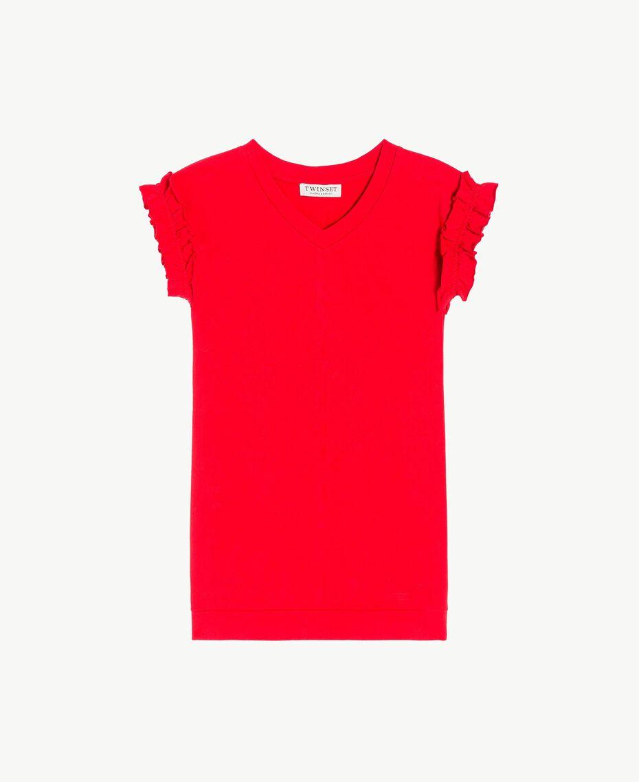 Kleid mit Rüschen Granatapfel Kind GS82KP-01