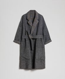Patterned reversible coat Double Check Jacquard Woman 192TP2300-0S
