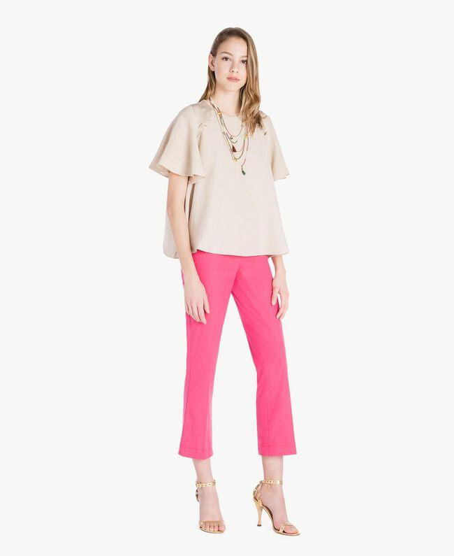Bluse aus Envers-Satin Dune Frau TS823E-05