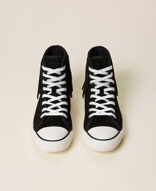 Sneakers de piel con flecos Cuero Mujer 212TCP100-06