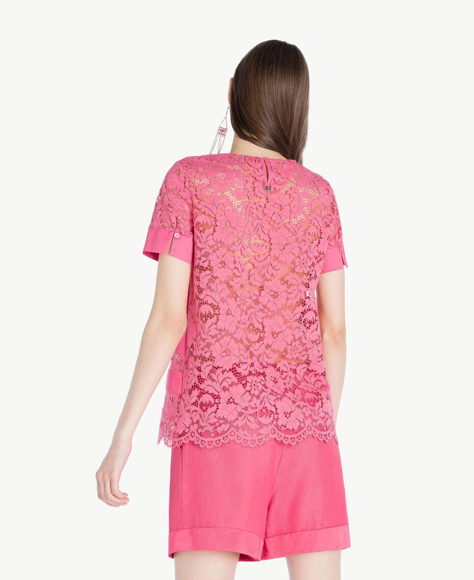 T-shirt dentelle Pink Provocateur Femme TS828Q-03