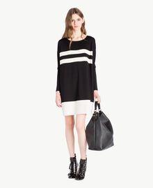 Vestido bicolor Negro Mujer PS828S-05