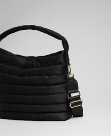 Padded hobo bag with shoulder strap Black Woman 192TO8063-04