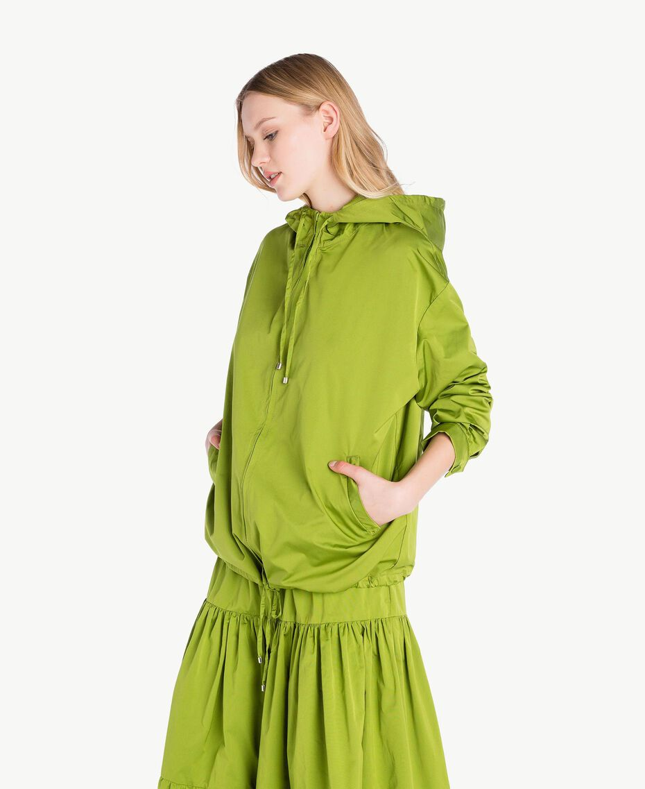 "Technical fabric jacket ""Lime"" Green Woman PS82J5-02"