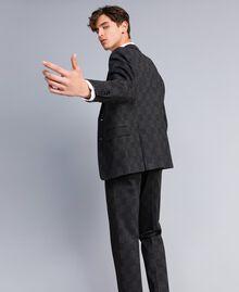 Anzug mit Print Grau melierter Karoprint Mann UA82BN-04