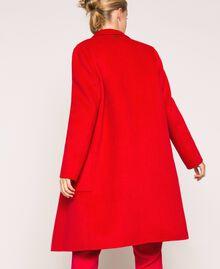 Manteau en drap double Rouge «Lave» Femme 201TP242A-03
