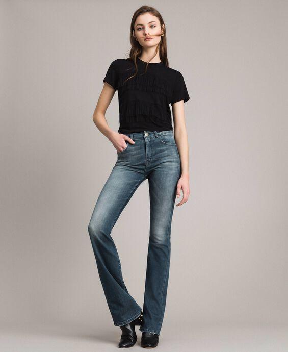 Bell-Bottom-Jeans in Farbverlaufoptik