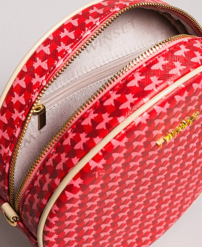 "Butterfly print shoulder bag ""Ruby"" Red Butterflies Print Woman 191TA7175-04"