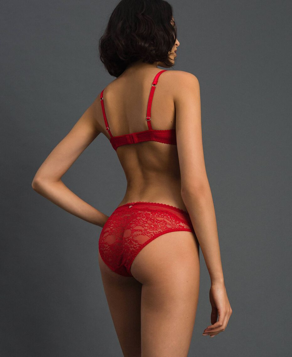Lace and tulle briefs Burning Red Woman 192LL6C66-03