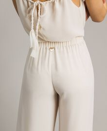 """Cropped trousers with sequins """"Milkway"""" Beige Woman 191LM2CBB-04"""