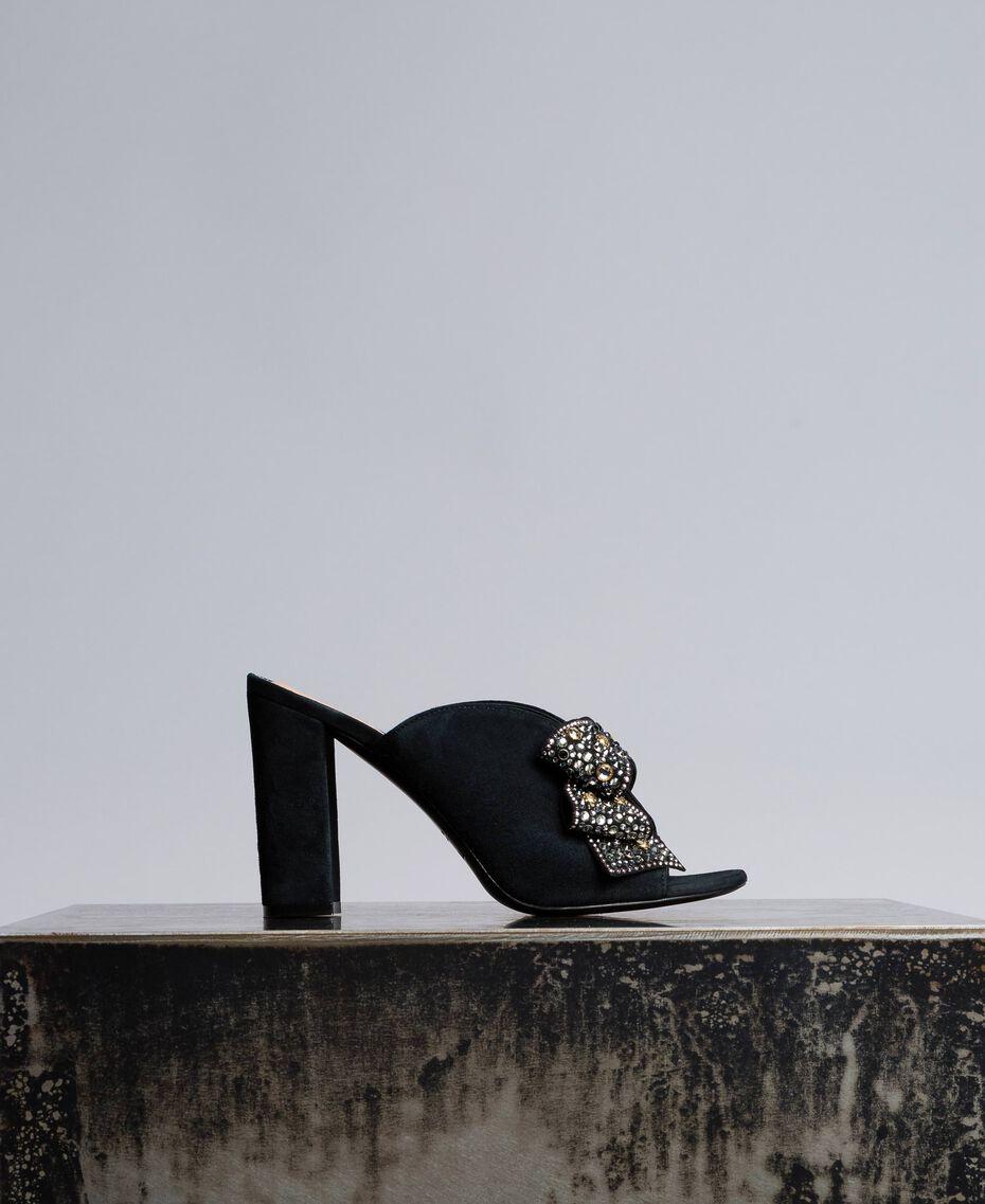 Замшевые мюли с бантом Черный женщина CA8PP3-01