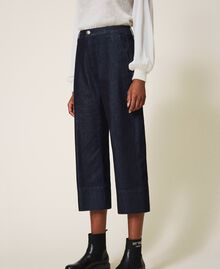 Wide leg jeans Dark Denim Woman 202MP2072-02