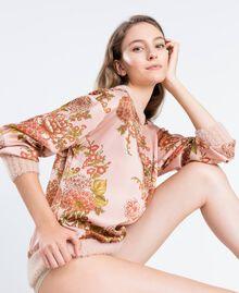 Blusa de sarga con estampado de flores Estampado Pink Ballerinas Flor Mujer LA8KPP-02