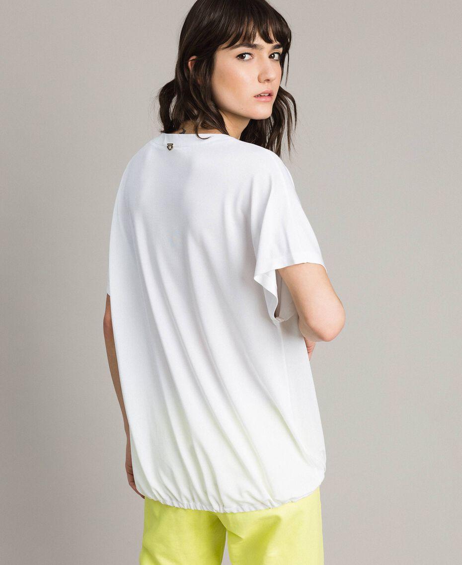 T-Shirt mit Tunnelzug Weiß Frau 191LL23GG-03