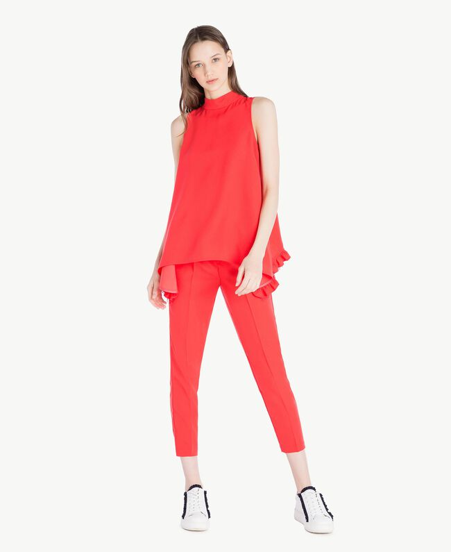 Cady drainpipe trousers Ginger Red Woman SS82AE-05