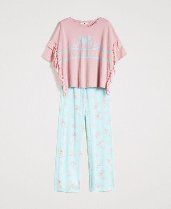 Pijama largo con volantes