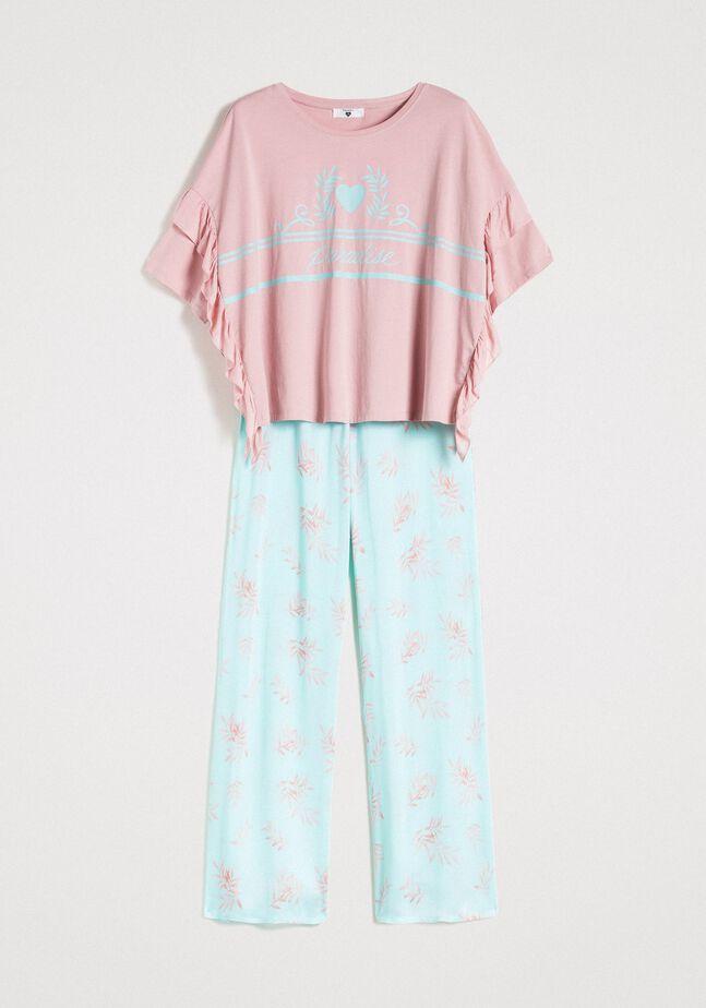 Ruffled long pajamas