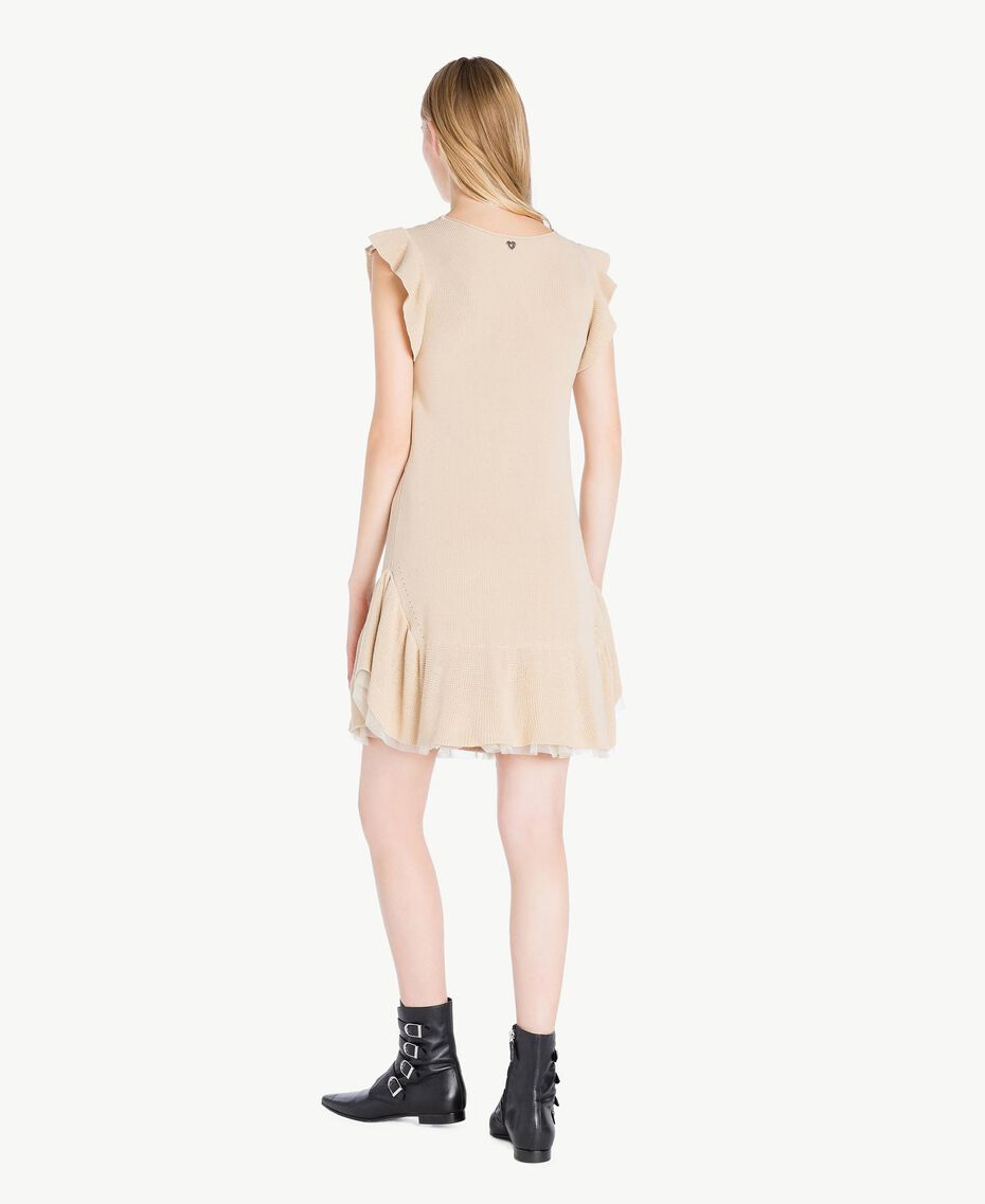 Openwork dress Ecrù Woman PS8311-03