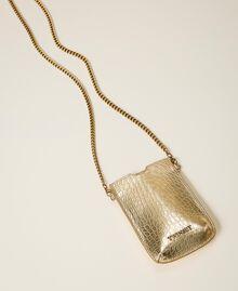 Smartphonetasche mit Krokoprägung Krokoprägung Hellgold Frau 202TD7254-01