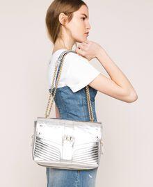 Кожаная сумка через плечо Rebel средних размеров Серый Титан женщина 999TA7233-0S