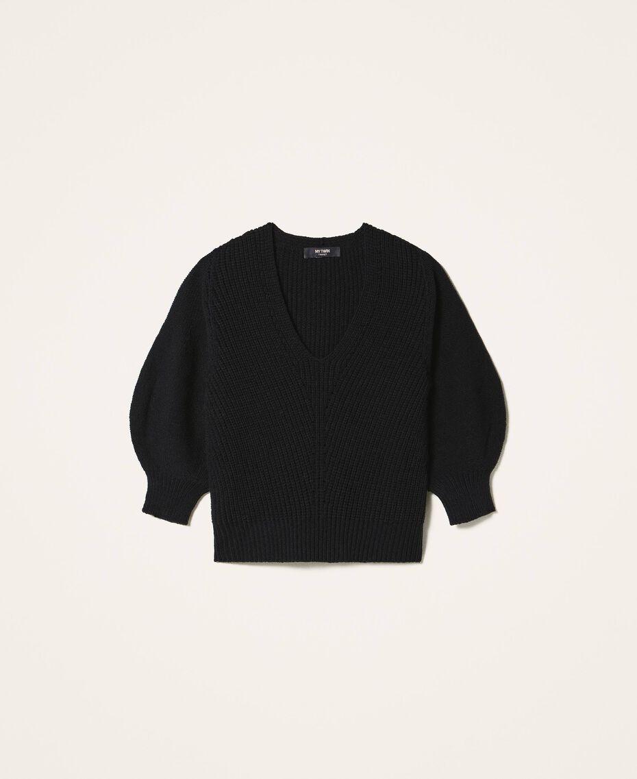 Jersey de lana mixta Negro Mujer 202MP3162-0S