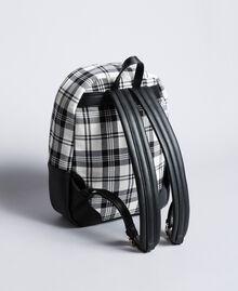 Sac à dos en tartan et similicuir Imprimé Tartan Blanc / Noir Optique Femme RA8TBB-03