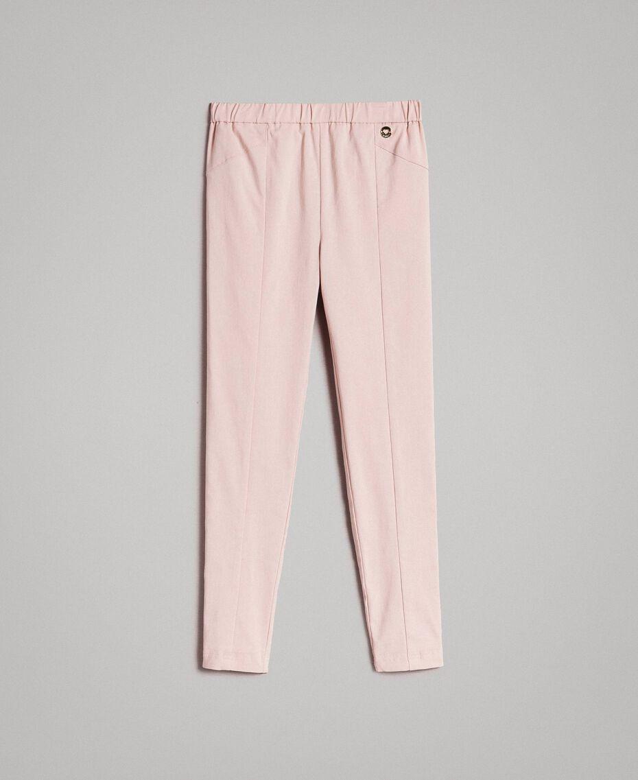 Pantalon skinny en coton Rose En fleur Enfant 191GJ2111-01