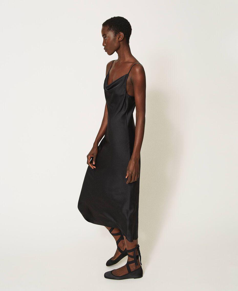 "Satin slip dress ""Nude"" Beige Woman 202MP2371-02"