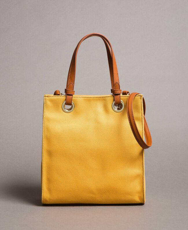 """Kleiner Shopper aus Canvas mit Logo """"Honey Gold"""" Frau 191TO8201-03"""