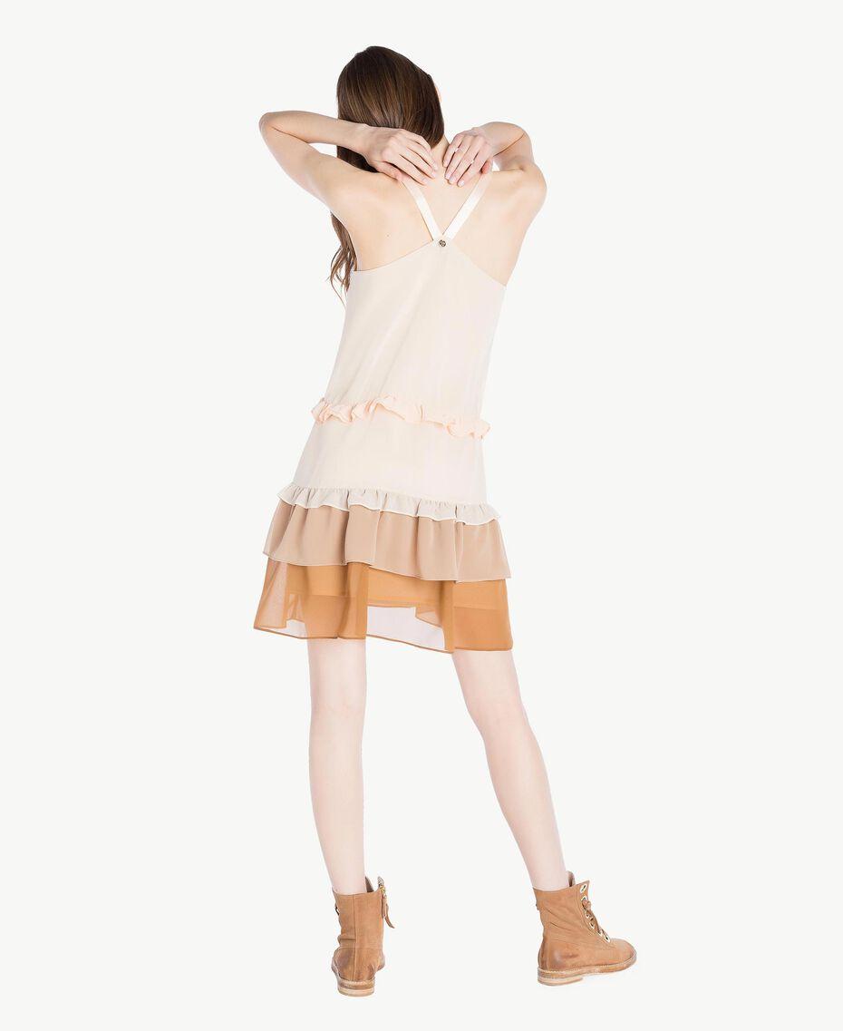 Kleid mit Volants Multicolor Seilbeige Frau SS82DC-03