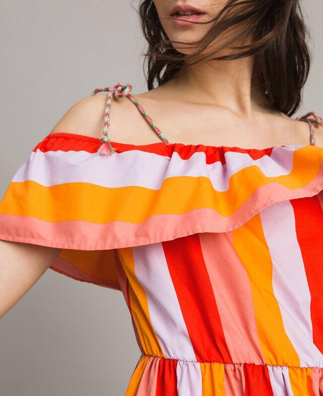 Robe en popeline à rayures multicolores Imprimé Multicolore Grenadine Femme 191TT2412-04