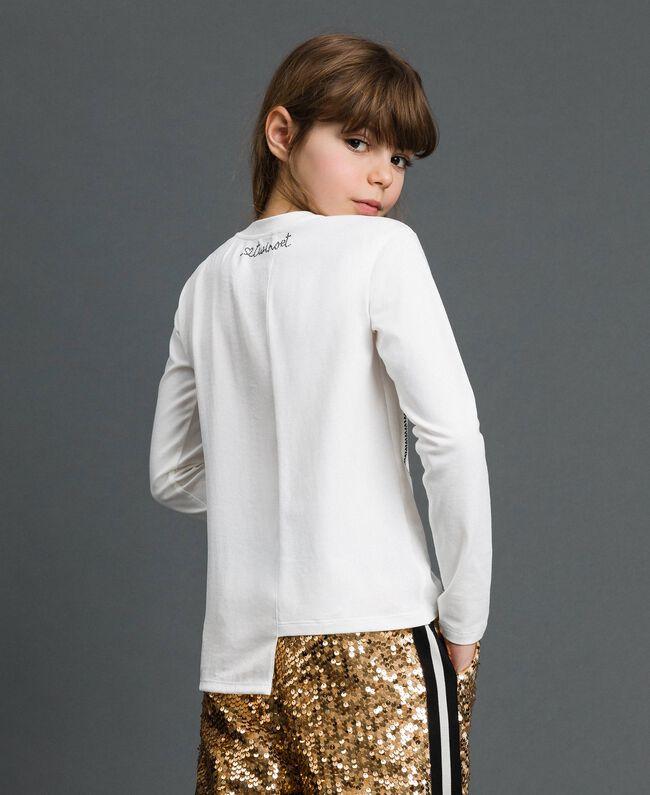 T-shirt asymétrique avec imprimé Blanc Enfant 192GJ2641-03