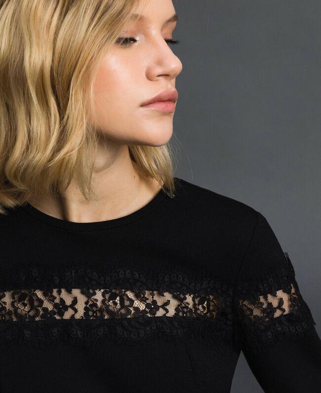 Robe fourreau avec incrustation en dentelle Noir Femme 192TP2093-04