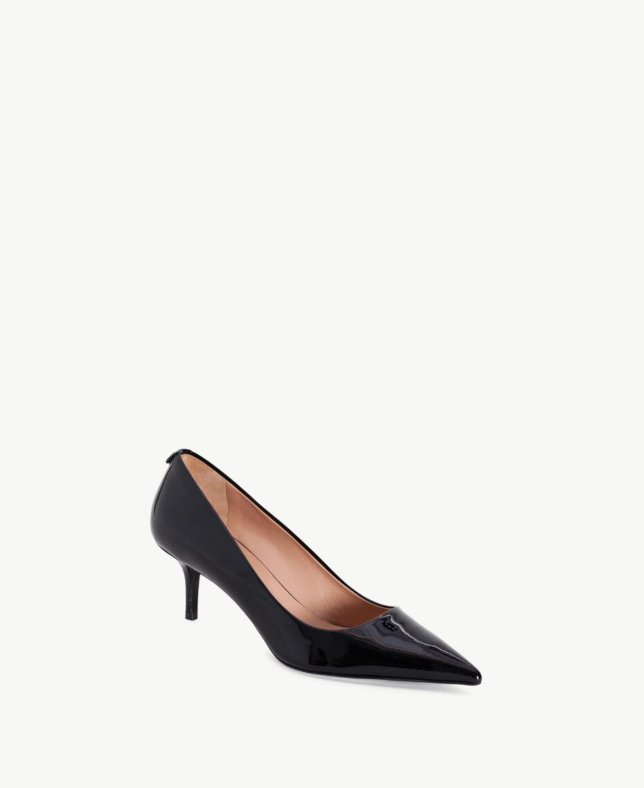 TWINSET Patent leather court shoes Black Female CA7PLY-02