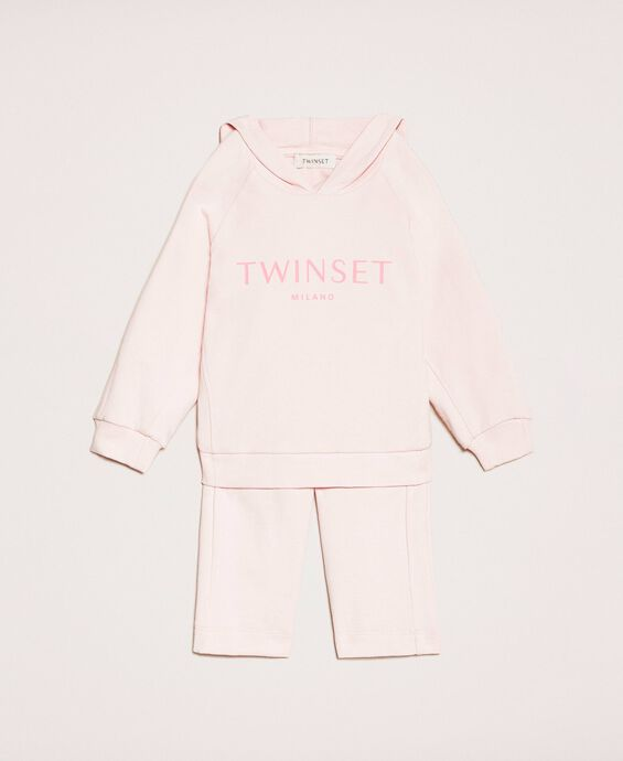 Logo sweatshirt and cropped trousers